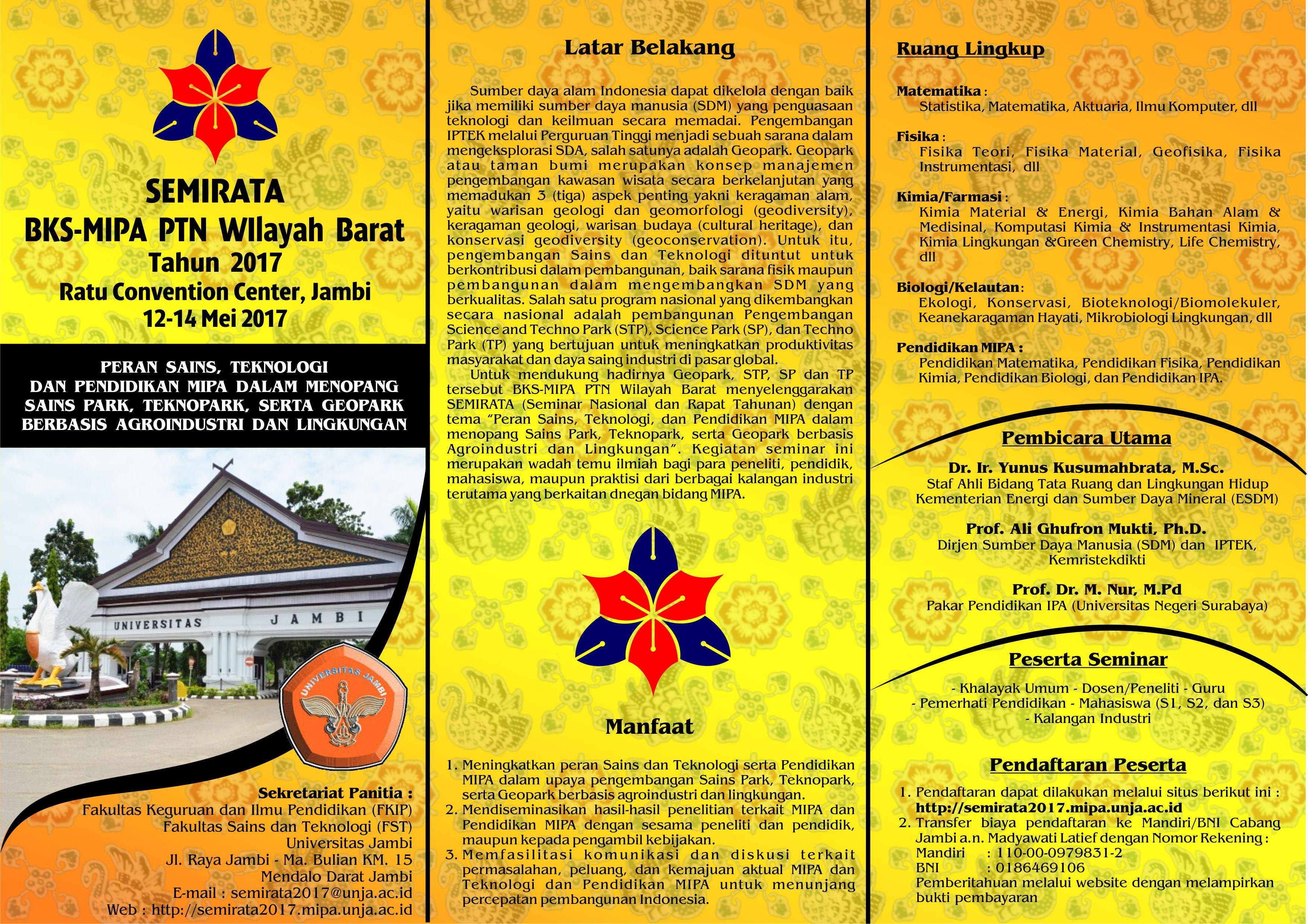 Brosur Pelaksanaan Semirata 2017 MIPA